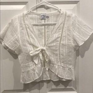 princess polly tie white skirt